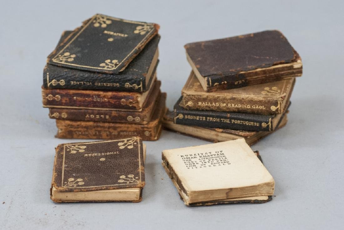 Antique Miniature Doll or Child Size Books