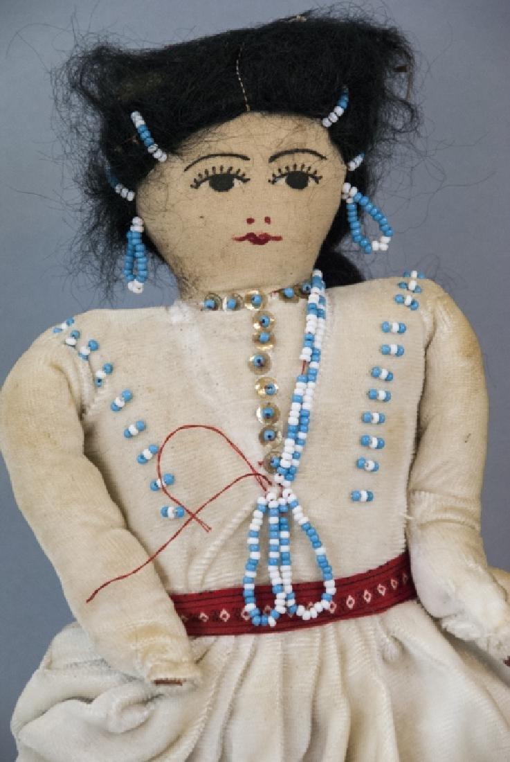 Two Vintage Handmade Native American Rag Dolls - 2