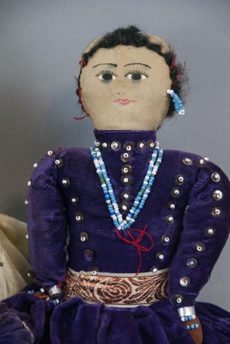 Two Vintage Handmade Native American Rag Dolls - 3