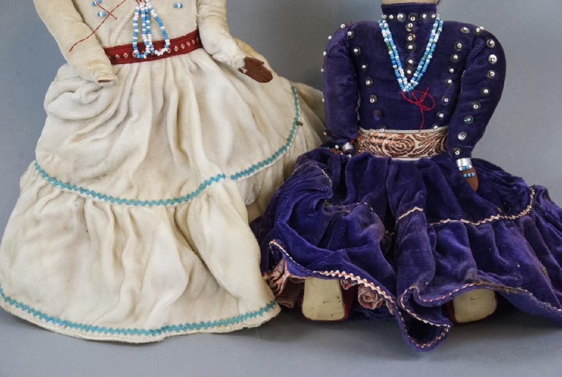 Two Vintage Handmade Native American Rag Dolls - 4
