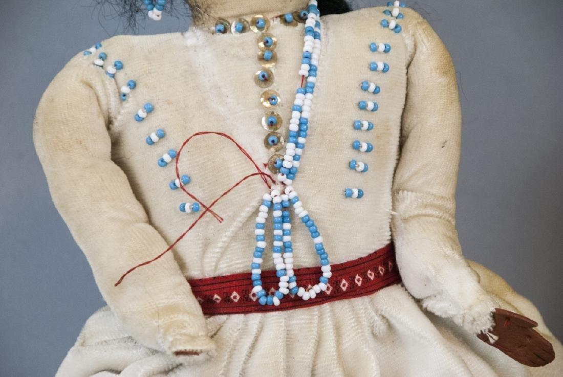 Two Vintage Handmade Native American Rag Dolls - 5