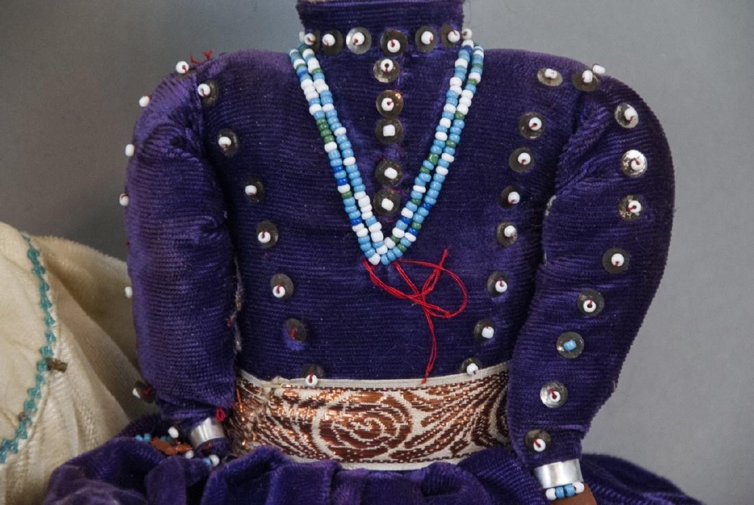 Two Vintage Handmade Native American Rag Dolls - 6
