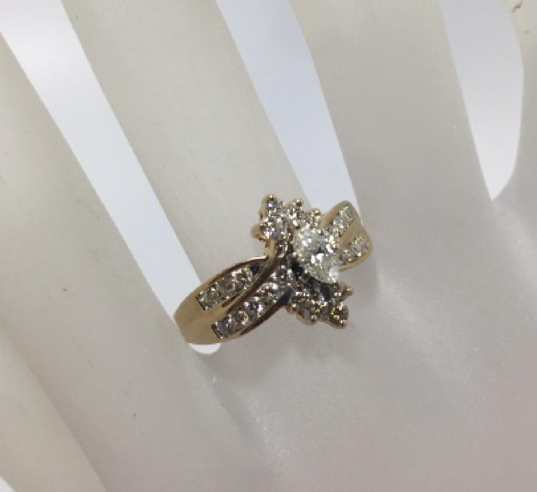 Vintage 14kt Yellow Gold & Diamond Ring