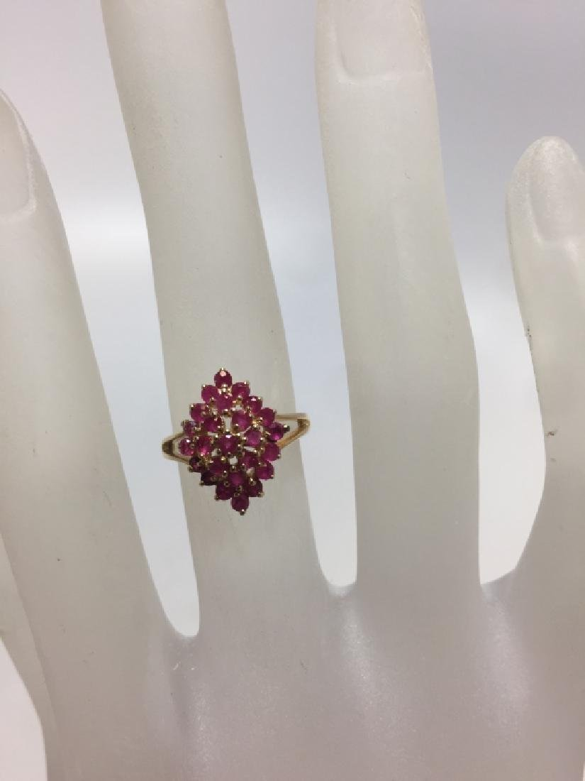 Vintage 14kt Yellow Gold & Ruby Navette Form Ring - 3