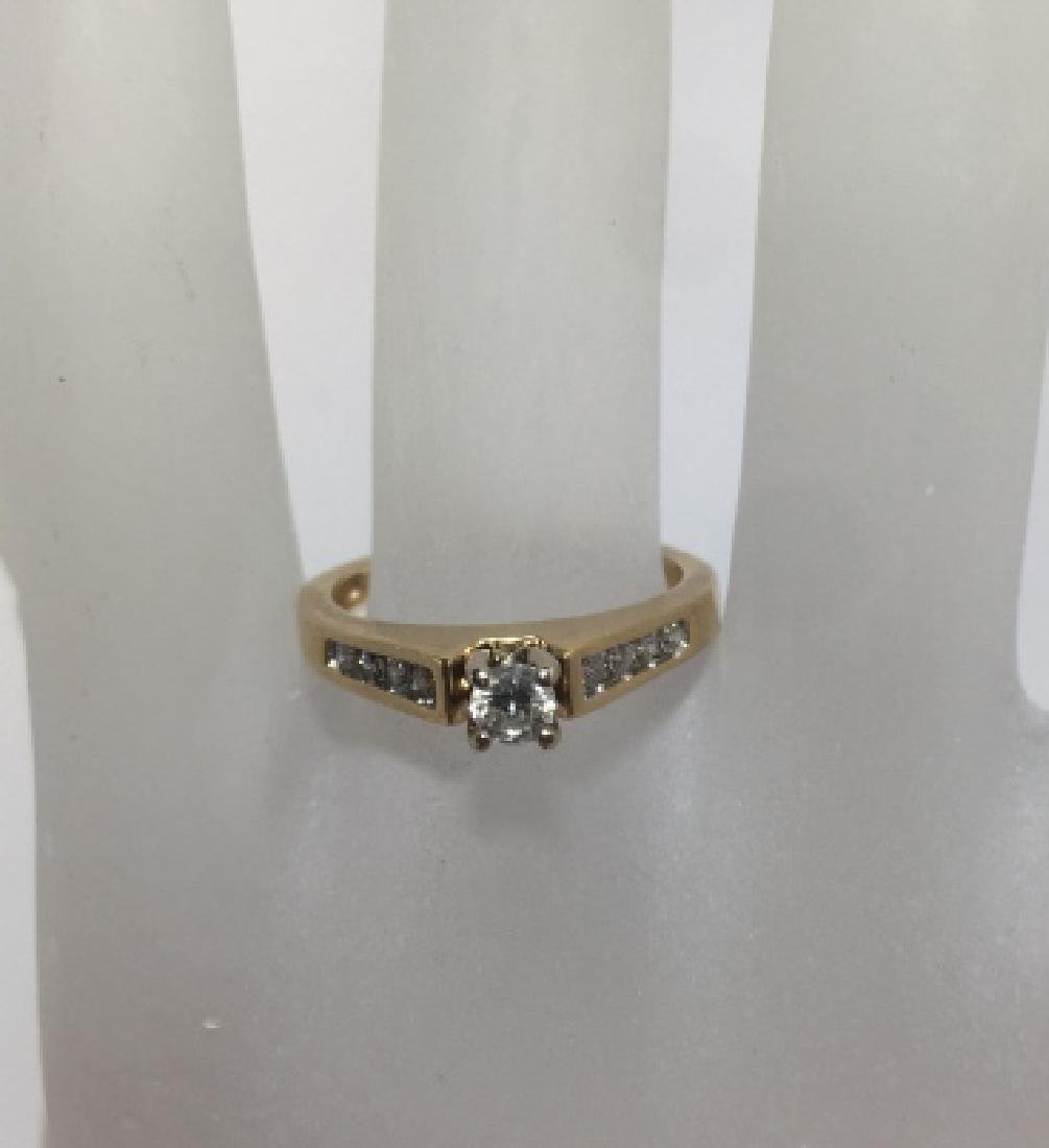 14kt Gold & Brilliant Cut Diamond Engagement Ring