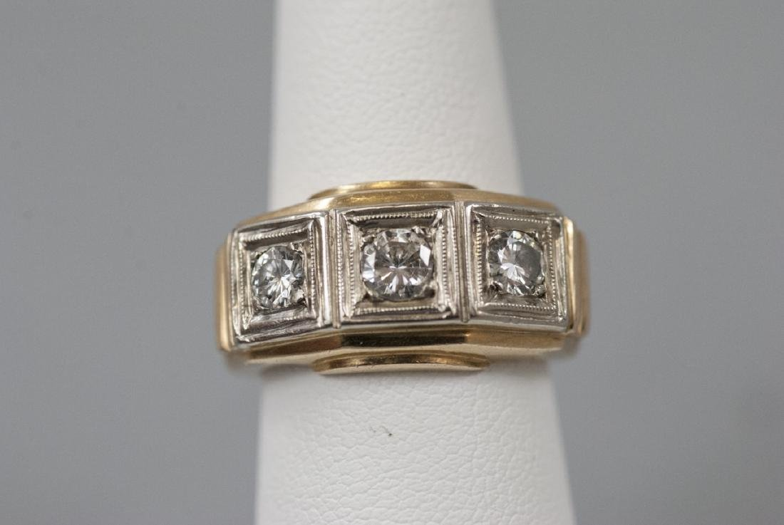 Estate 14k Yellow & White Gold .75 Ct Diamond Ring