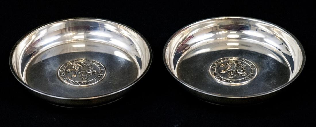 Pair Tiffany & Co Sterling Nassau Gun Club Plates