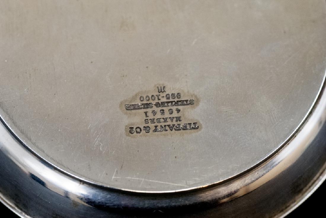 Pair Tiffany & Co Sterling Nassau Gun Club Plates - 3