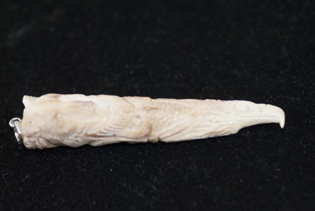 Native American Totem Pole Bone Necklace Pendant