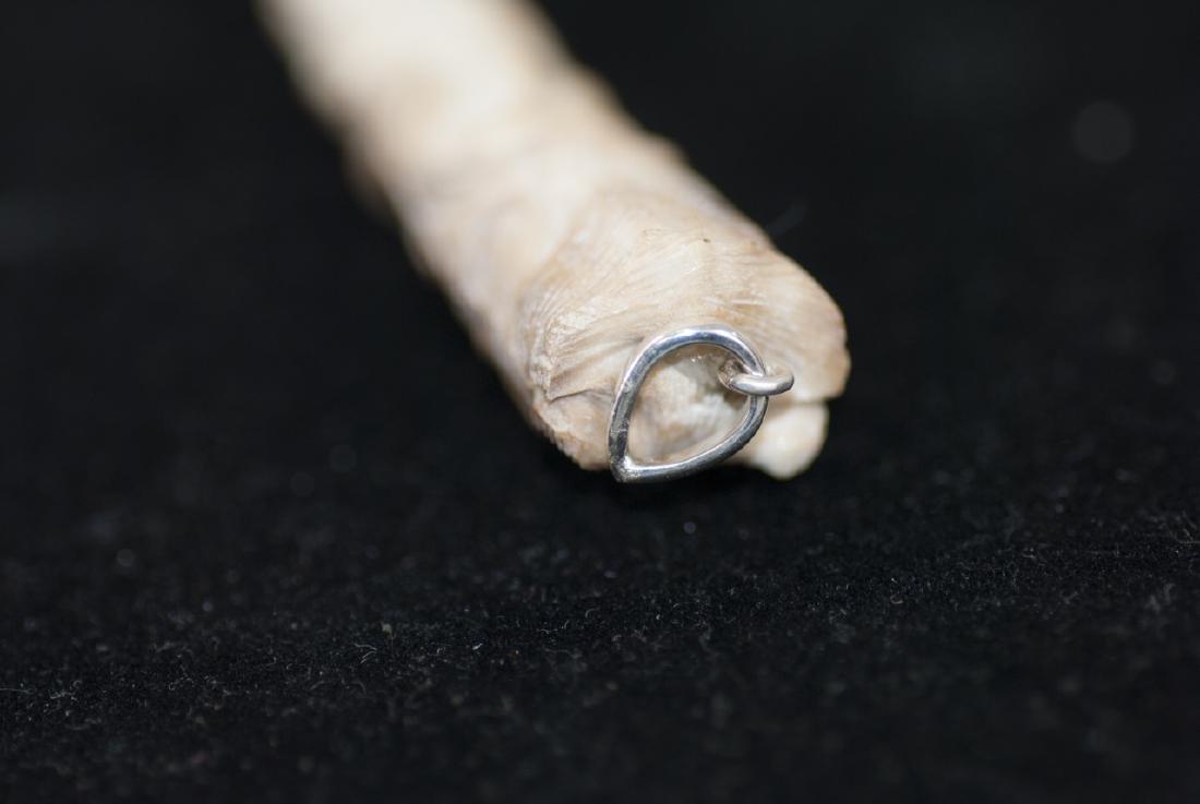 Native American Totem Pole Bone Necklace Pendant - 3