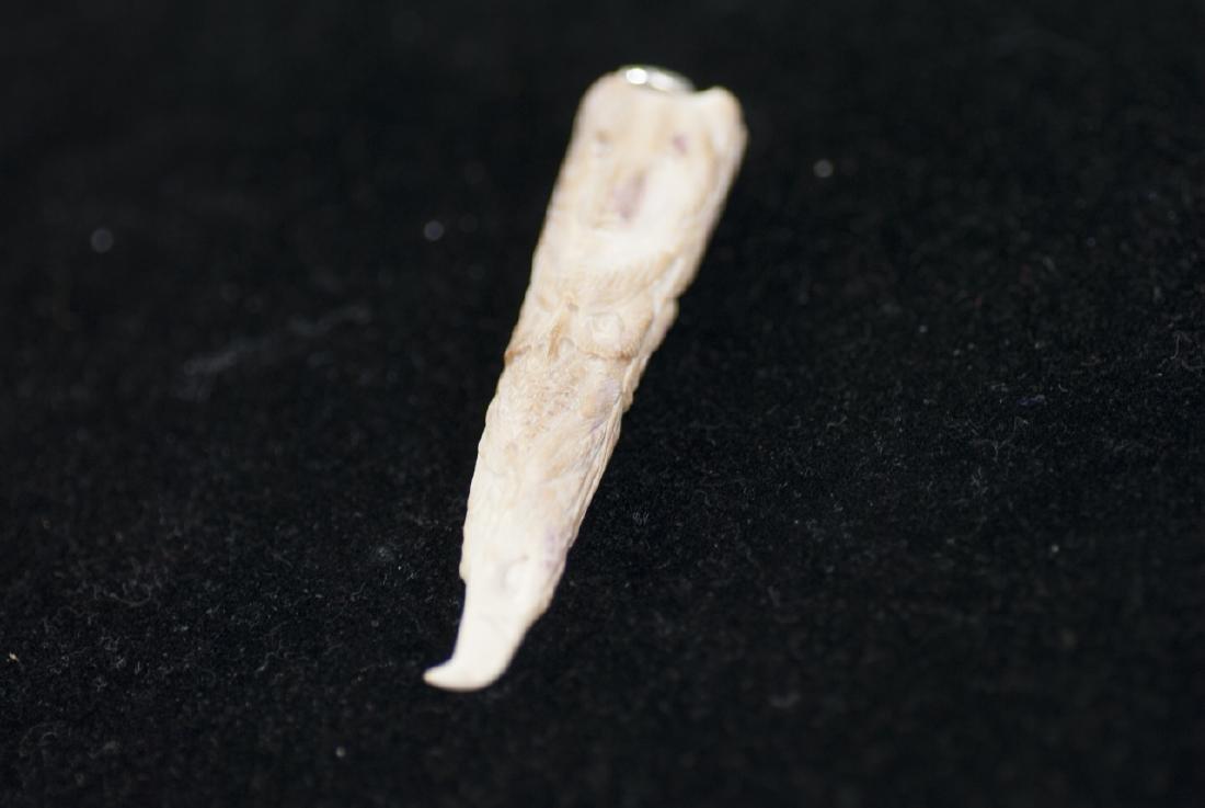 Native American Totem Pole Bone Necklace Pendant - 5