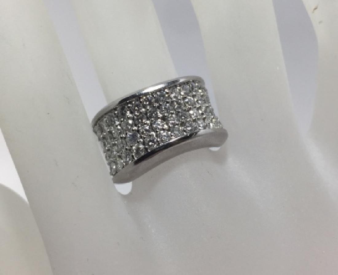 14kt White Gold & 1.9 Carat Pave Diamond Ring