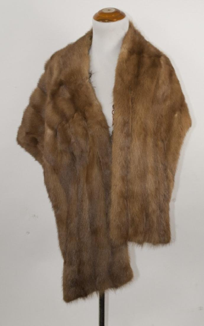 Vintage Brown Mink Fur Shawl or Wrap