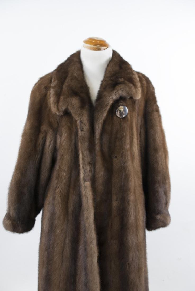 Vintage Brown Mink Fur Coat by Fourrure Doris