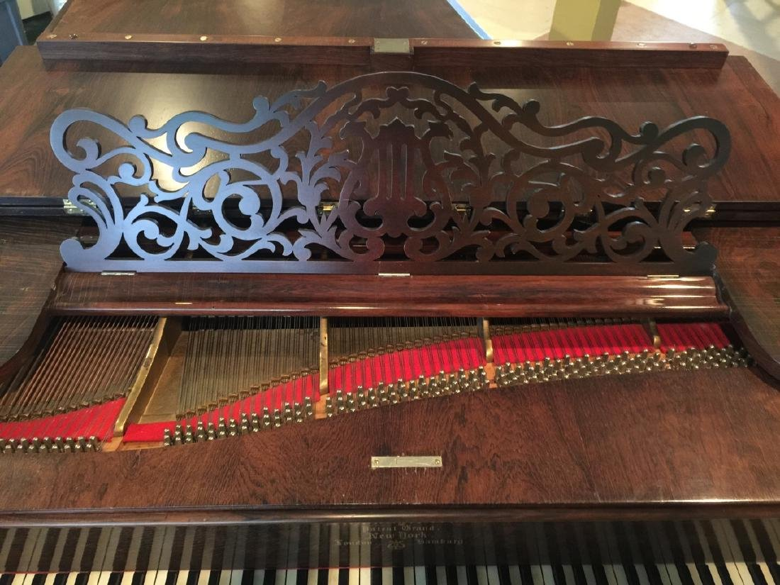 Antique Carved Rosewood 1863 Steinway Grand Piano - 3