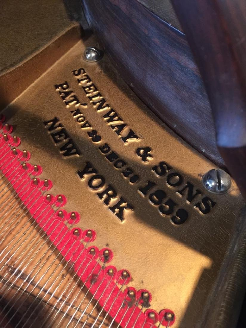 Antique Carved Rosewood 1863 Steinway Grand Piano - 4