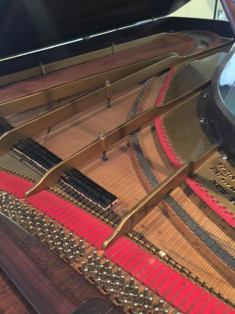 Antique Carved Rosewood 1863 Steinway Grand Piano - 5
