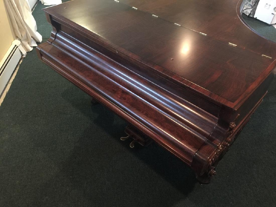 Antique Carved Rosewood 1863 Steinway Grand Piano - 6