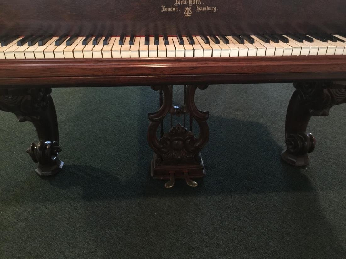 Antique Carved Rosewood 1863 Steinway Grand Piano - 9