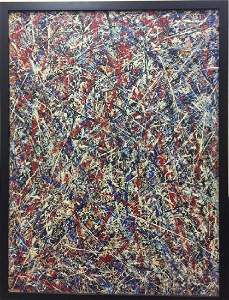 Attributed to Jackson Pollock - Painting on Panel
