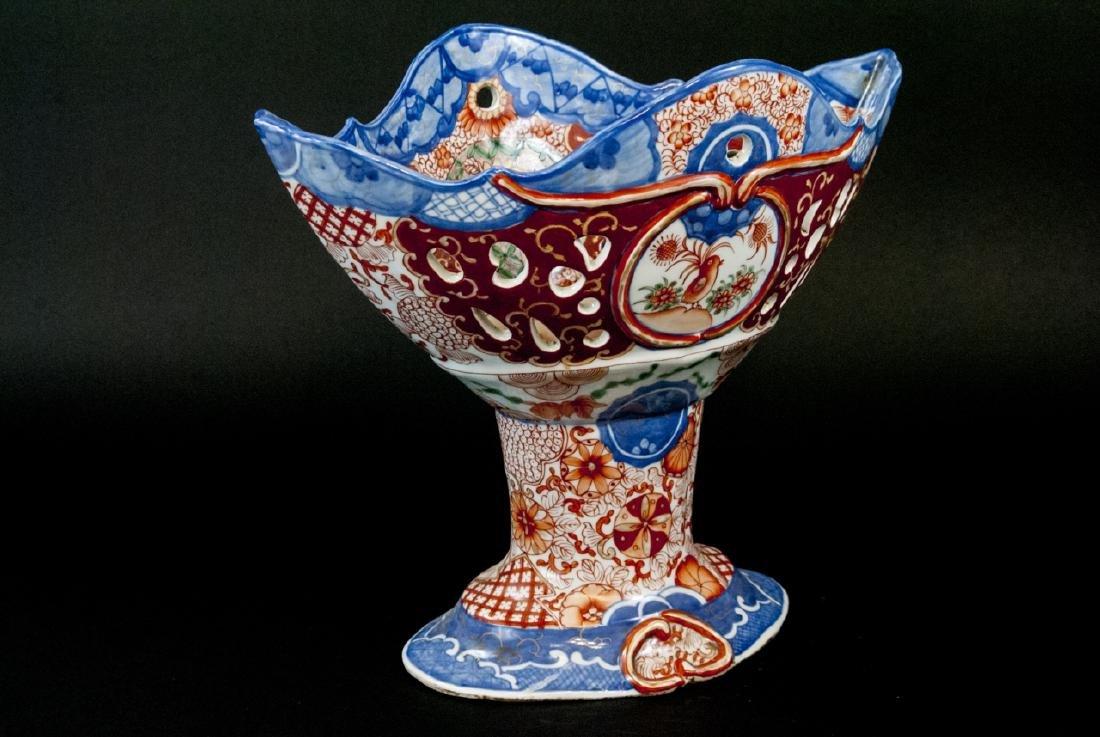 Large Chinese Hand Painted Porcelain Compote - 6