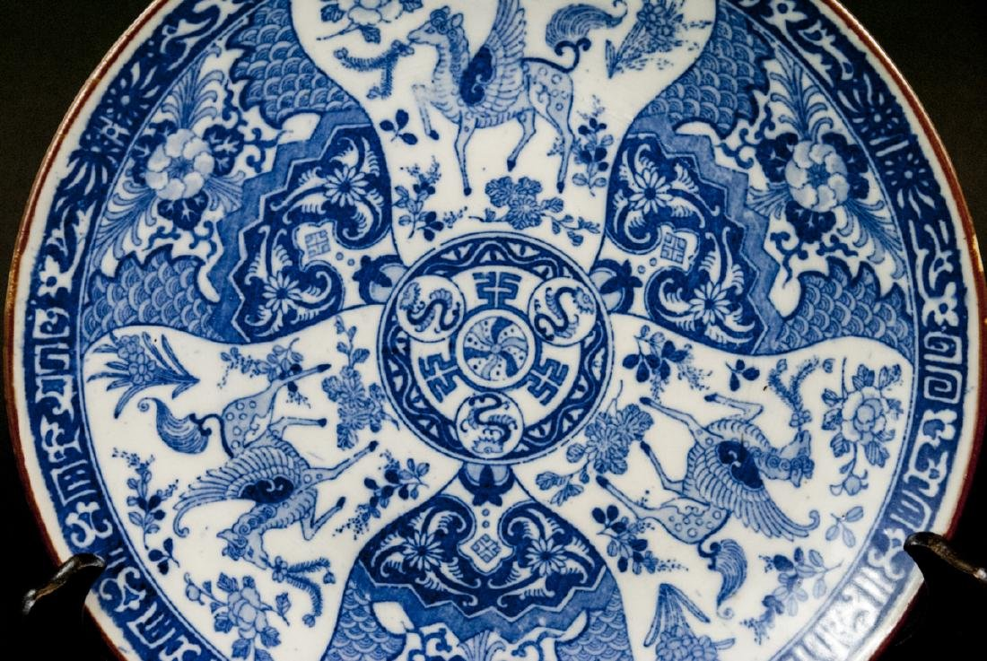 Chinese Blue & White Porcelain Charger / Platter - 5