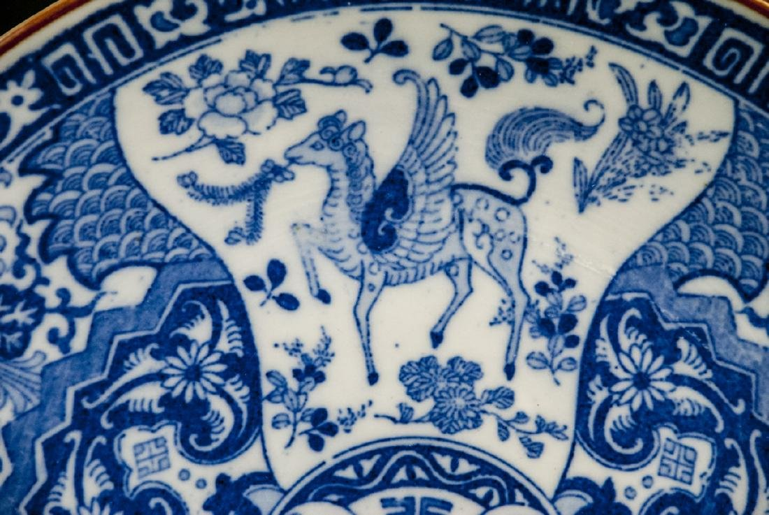 Chinese Blue & White Porcelain Charger / Platter - 6
