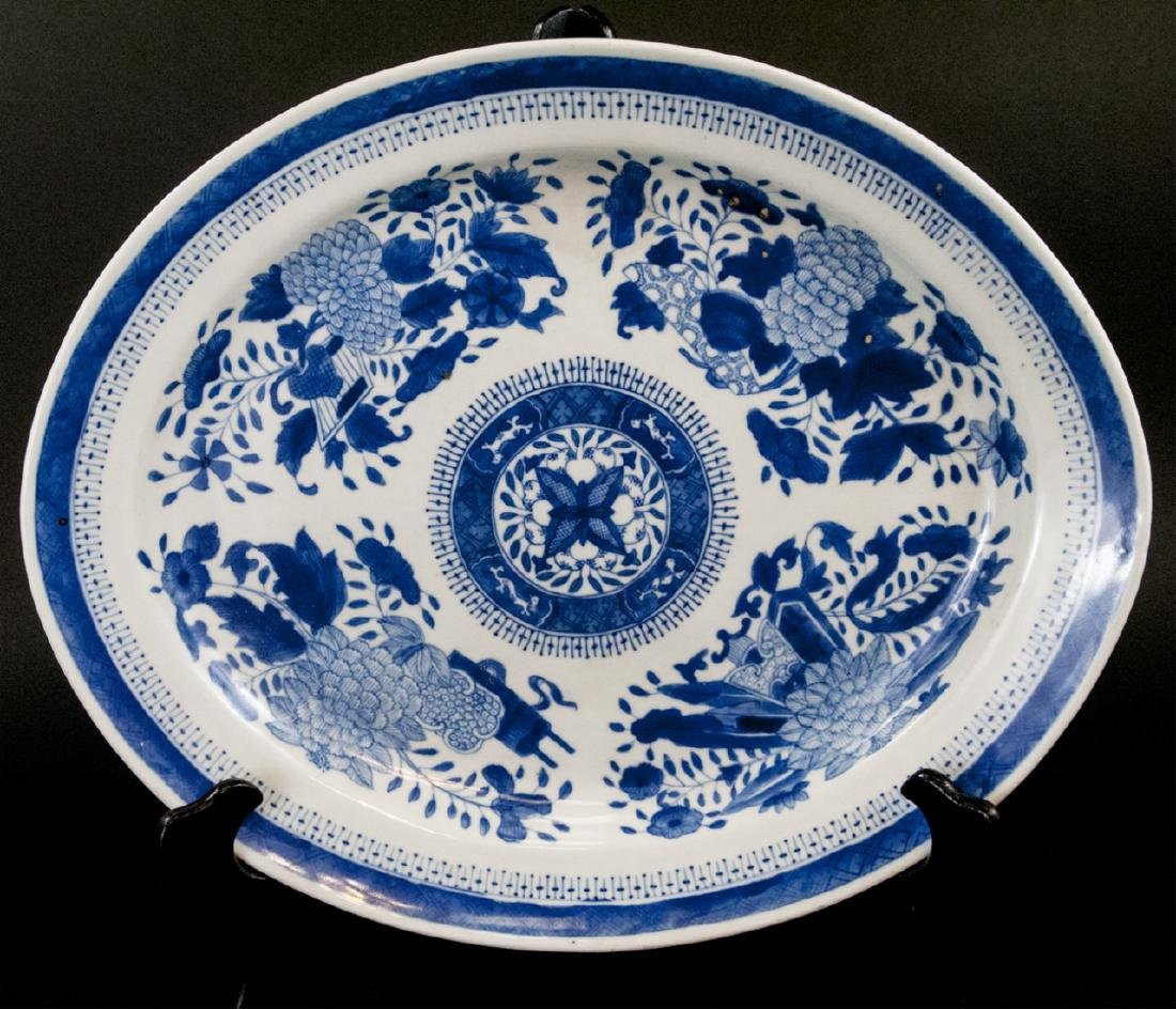 Large Chinese Porcelain Blue & White Platter