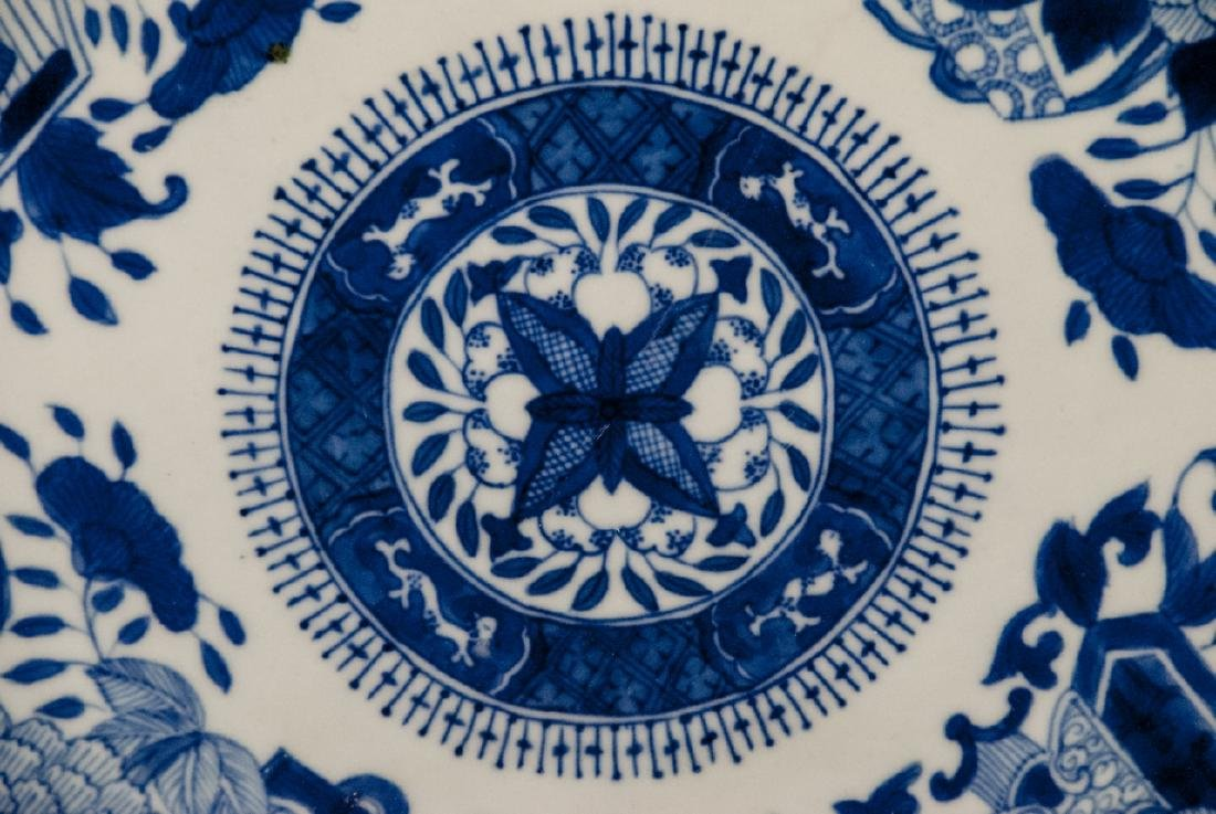 Large Chinese Porcelain Blue & White Platter - 2