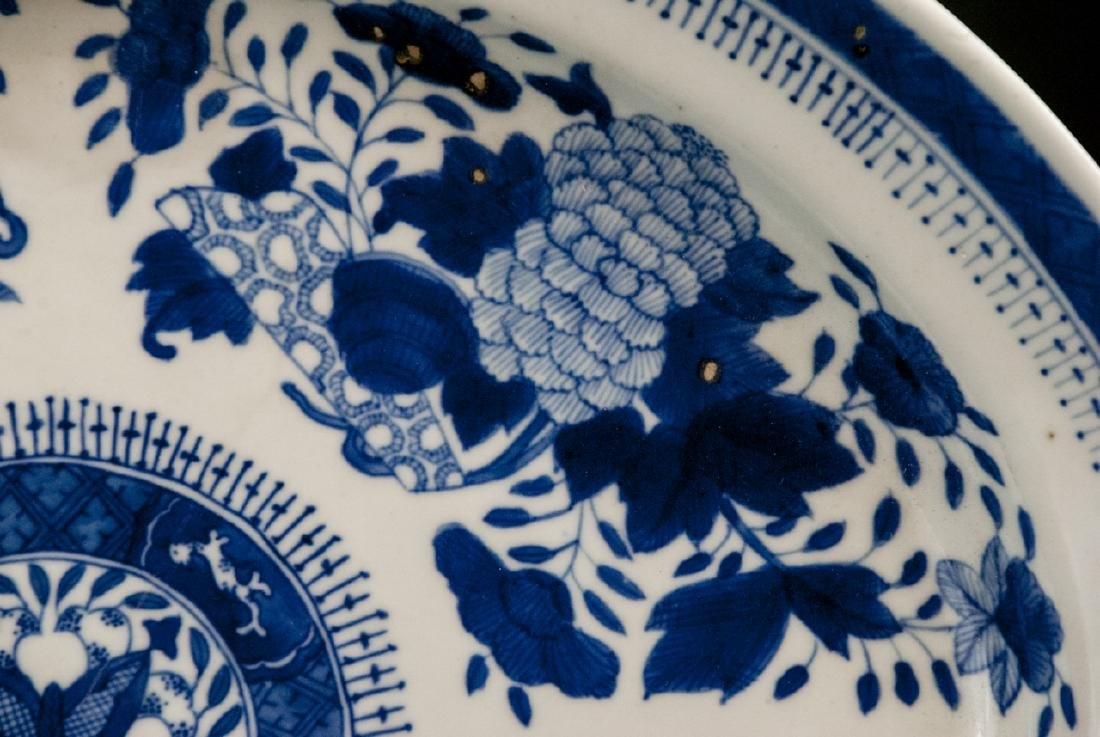 Large Chinese Porcelain Blue & White Platter - 3
