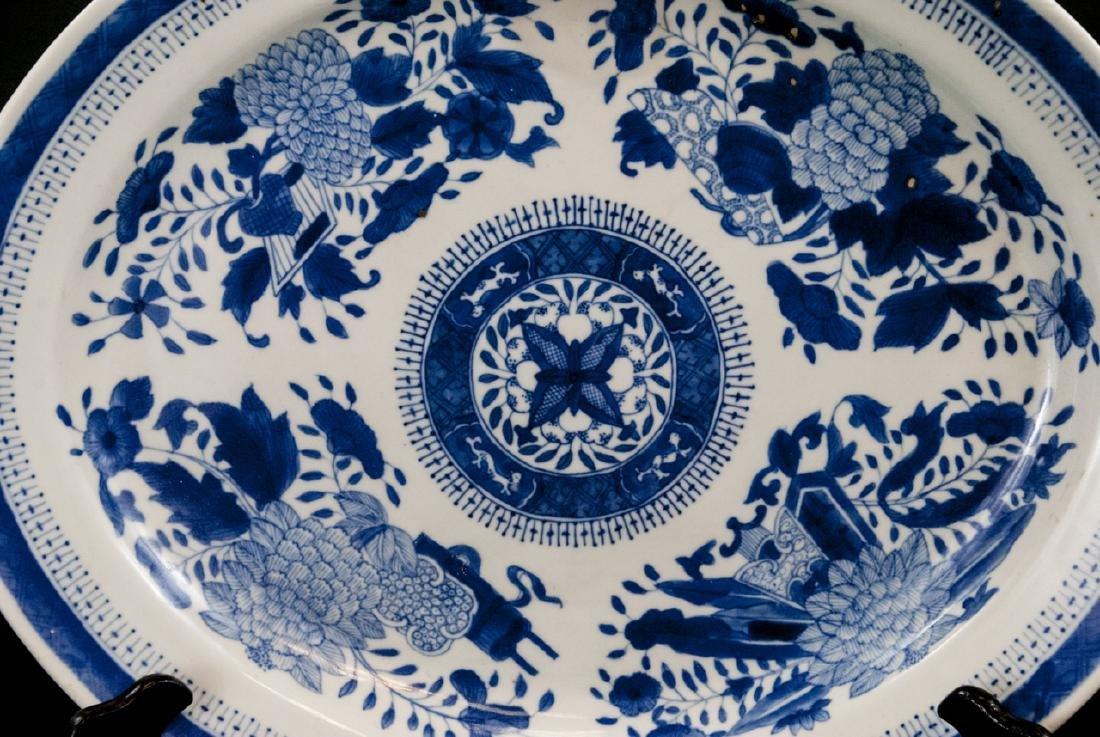 Large Chinese Porcelain Blue & White Platter - 5