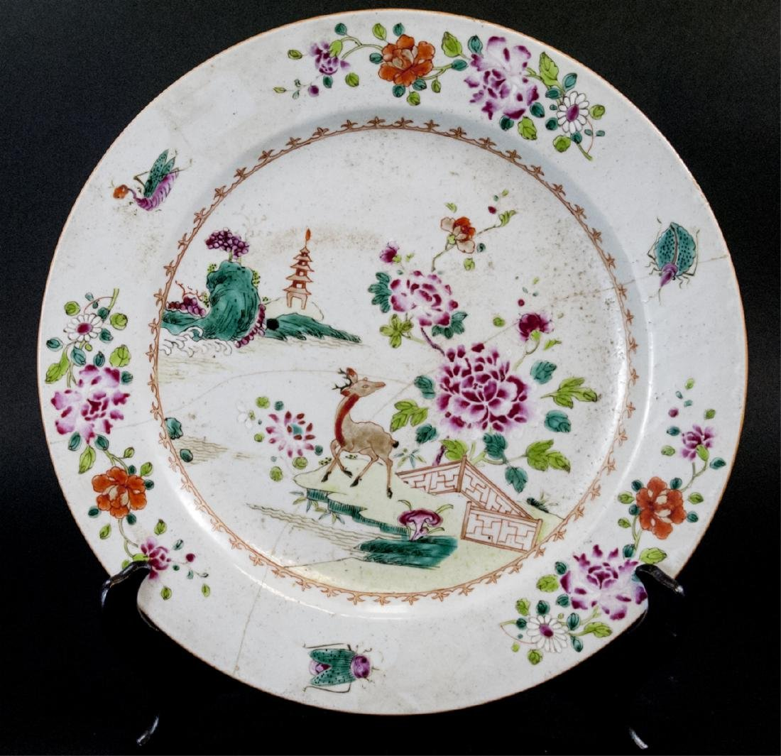 Large Antique Chinese Hand Painted Charger