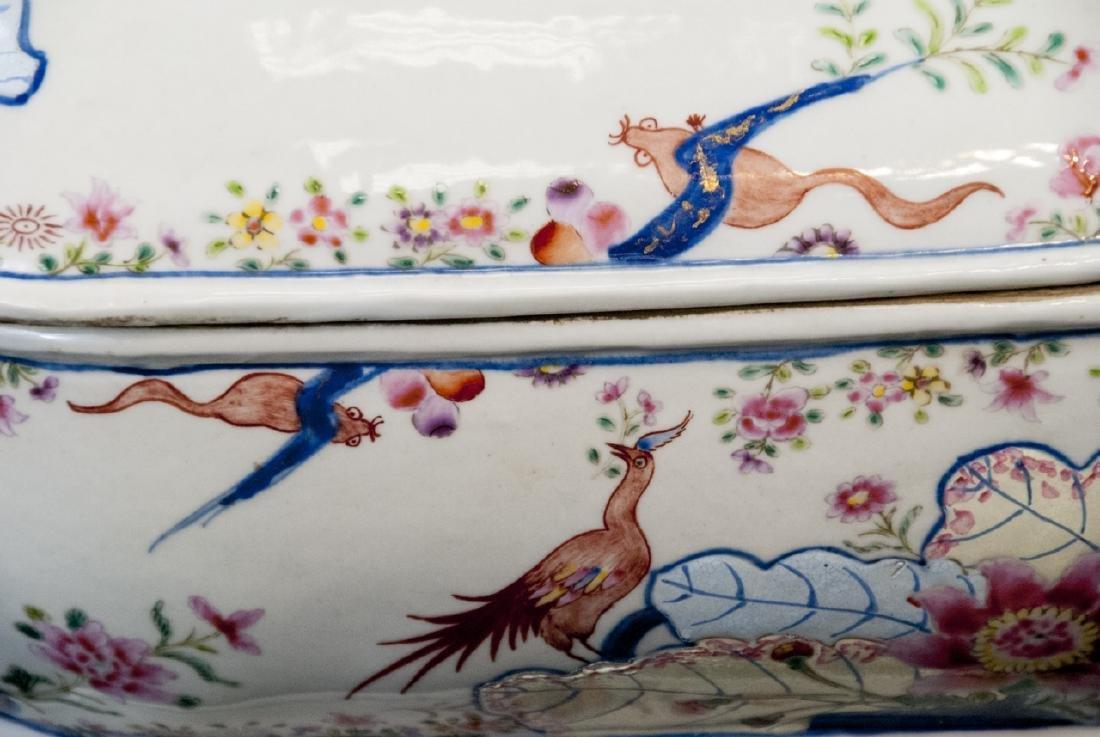 Chinese Porcelain Tobacco Leaf Tureen & Platter - 2