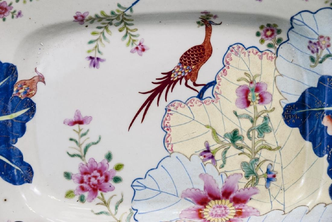 Chinese Porcelain Tobacco Leaf Tureen & Platter - 8