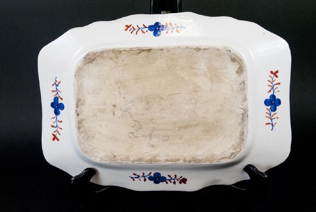 Chinese Porcelain Tobacco Leaf Tureen & Platter - 9