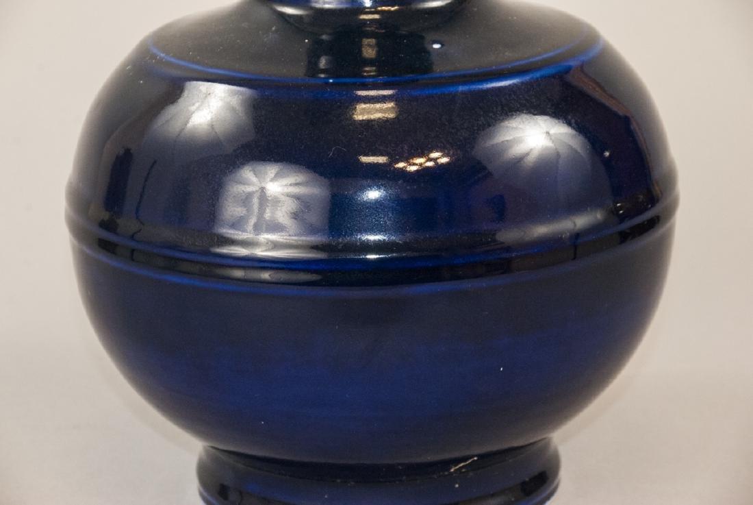 Large Chinese Cobalt Porcelain Bottle Form Vase - 3