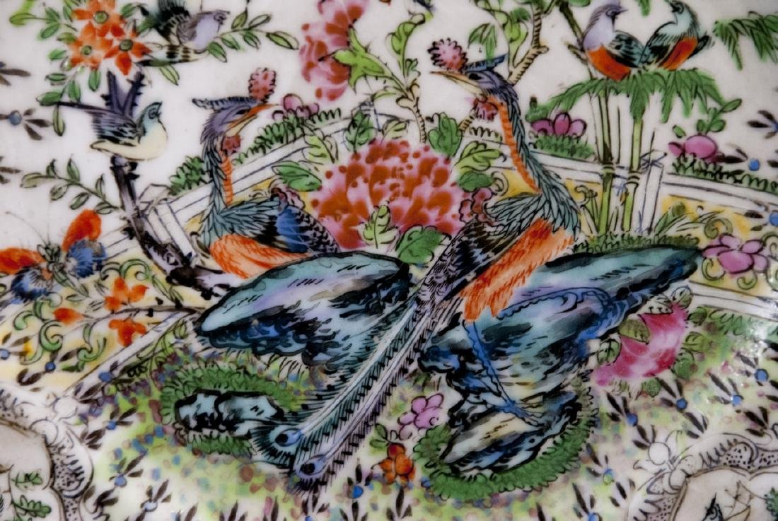 Three Chinese Hand Painted Porcelain Plates - 2