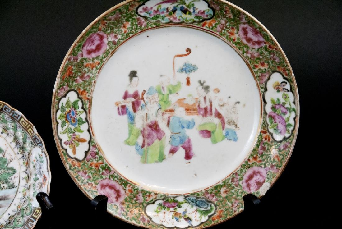 Three Chinese Hand Painted Porcelain Plates - 4
