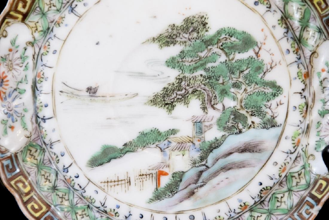 Three Chinese Hand Painted Porcelain Plates - 7