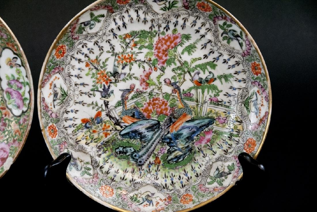 Three Chinese Hand Painted Porcelain Plates - 8