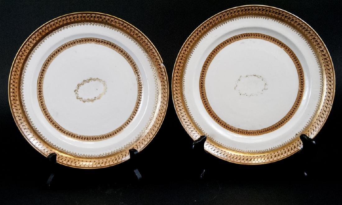 Pair Antique Chinese Export Porcelain Plates