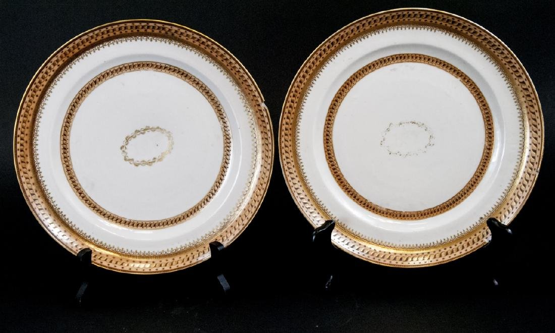 Pair Antique Chinese Export Porcelain Plates