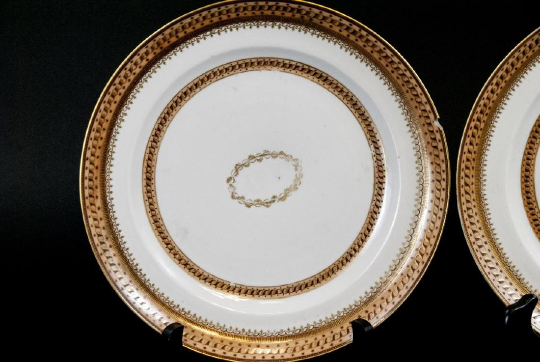 Pair Antique Chinese Export Porcelain Plates - 5