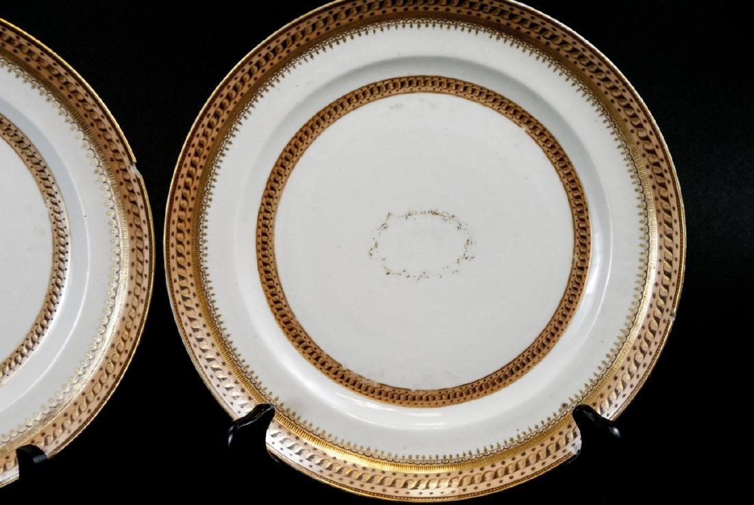 Pair Antique Chinese Export Porcelain Plates - 6