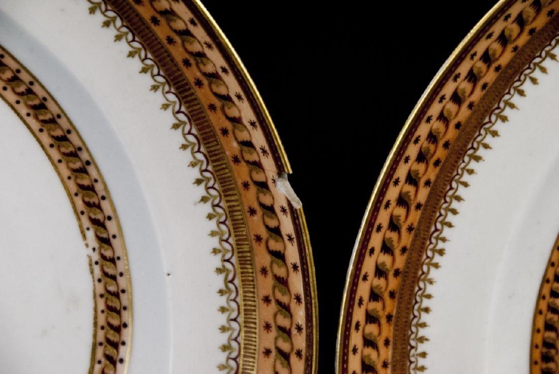 Pair Antique Chinese Export Porcelain Plates - 8