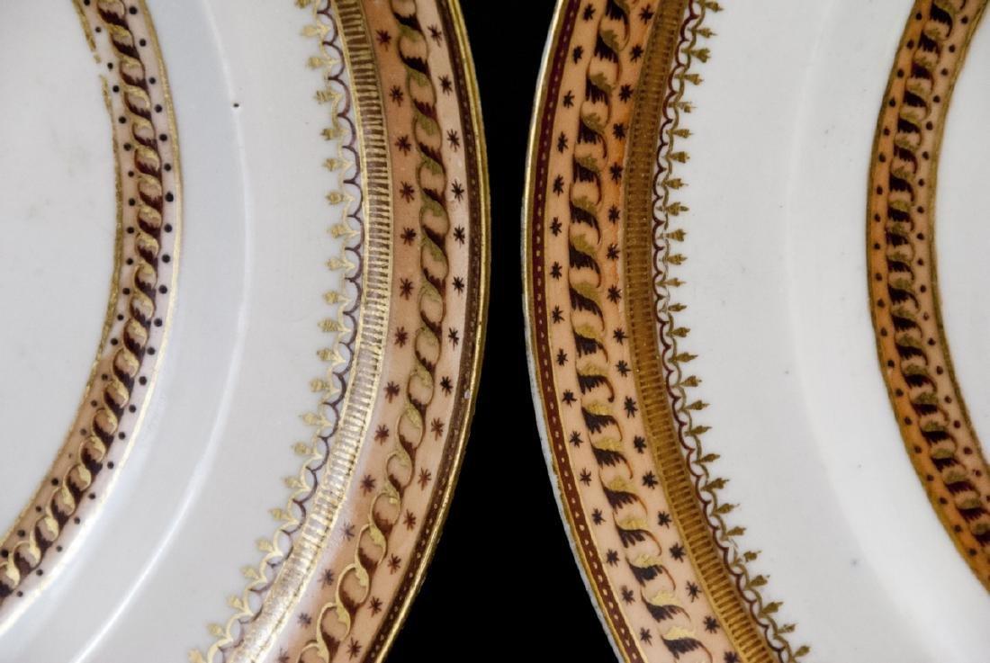Pair Antique Chinese Export Porcelain Plates - 9