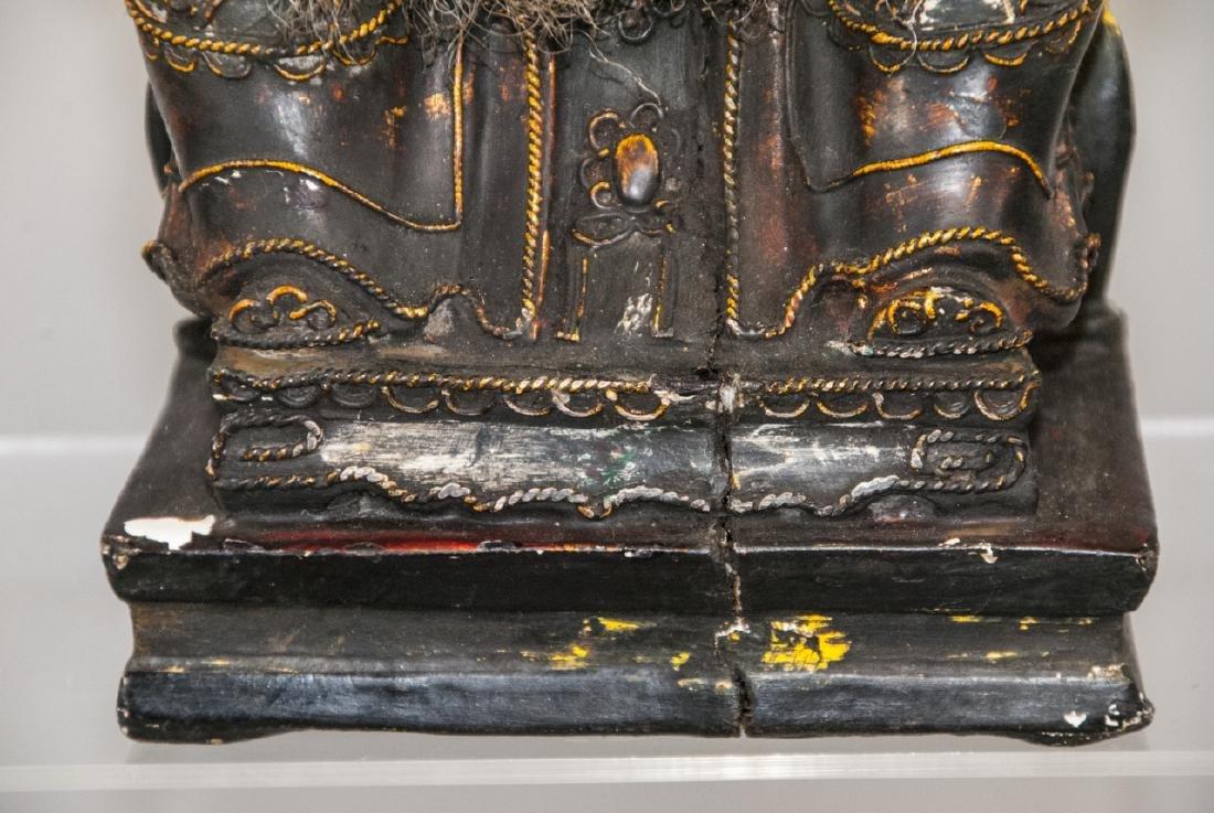Chinese Handmade & Decorated Buddha Statue - 3