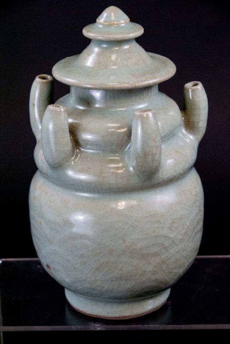 Chinese Celadon Crackleware Porcelain Vessel