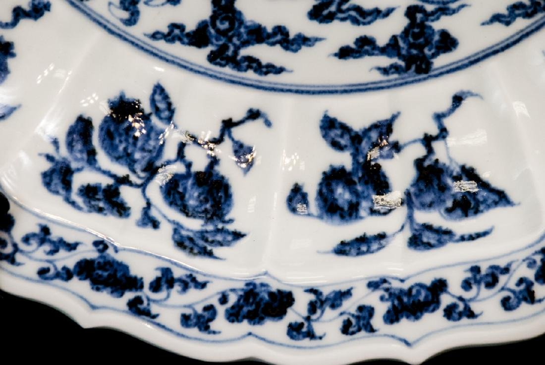 Large Chinese Hand Painted Dragon Charger - 4