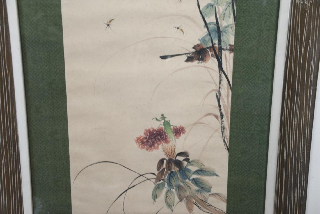 Large Chinese Signed Ink Painting of Flowers - 3